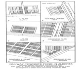 View figure: Railway Townsite Plans Used in Alberta