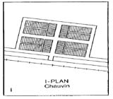 View figure: Chauvin Townsite Plan