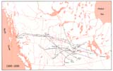 View Maps - Incorporated Railways Proposed for Western Canada, 1880–1890