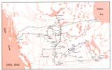 View Maps - Incorporated Railways Proposed for Western Canada, 1912, 1913