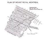 View Maps - Montreal, Plan of Mount Royal