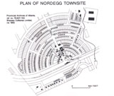 Nordegg, Plan of Townsite