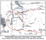 Great Slave Lake Railway, Proposed Railway Routes to Pine Point