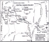 Central Canada Railway, Proposed and Existing Lines