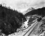 View photo: CPR Construction Train at Kicking Horse Pass