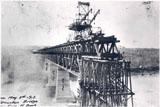 View photo: Construction of the High Level Bridge