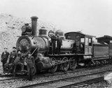 View photo: Frank and Grassy Mountain Railway Engine